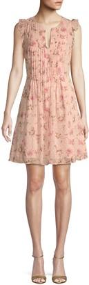 CeCe Flutter-Sleeve Floral Mini Dress