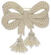 Gucci Broche à n?ud avec perles en ré
