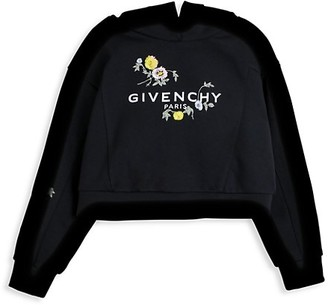 Givenchy Little Girl's & Girl's Floral Embroidered Logo Hoodie