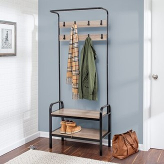 Gracie Oaks Chauncey Hall Tree with Bench and Shoe Storage