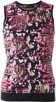 Versace abstract intarsia top - women - Nylon/Polyamide/Spandex/Elastane/Wool - 40