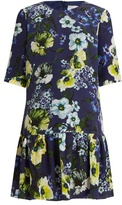 Erdem Emmie Hasu Night-print silk-crepe dress