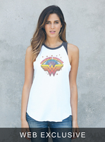 Junk Food Clothing Wonder Woman Star Raglan Tank