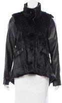 Derek Lam Fur-Accented Leather Jacket