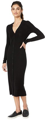 Beyond Yoga Your Line Buttoned Duster (Black) Women's Clothing