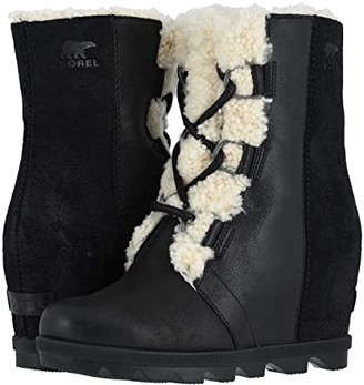Sorel Joan of Arctictm Wedge II Shearling (Black) Women's Waterproof Boots