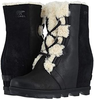 Sorel Joan of Arctictm Wedge II Shearling (Black) Women's Waterproof Boots