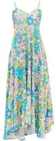 Dodo Bar Or Mila Floral-print Twill Midi Dress - Womens - Pink Print