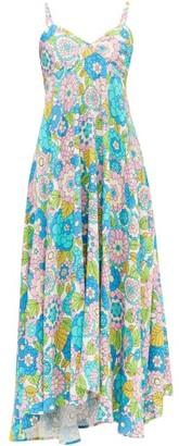 Dodo Bar Or Mila Floral-print Twill Midi Dress - Pink Print