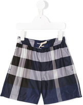 Burberry checked shorts - kids - Polyester - 12 yrs