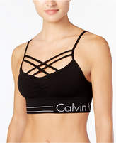 Calvin Klein Strappy-Front Low-Support Sports Bra