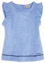 Armani Junior Girls' Linen Top - Sizes 7-16