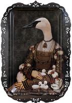 Ibride Galerie De Portraits - Rectangular Tray - Bianca