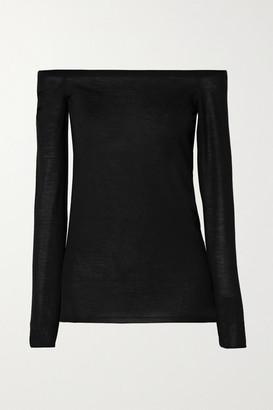 Stella McCartney Off-the-shoulder Wool Sweater - Black