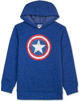 Marvel Boys' Captain America Graphic-Print Hoodie