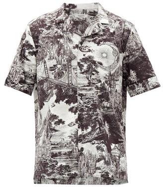 Valentino Dreamatic-print Bowling Shirt - Black White