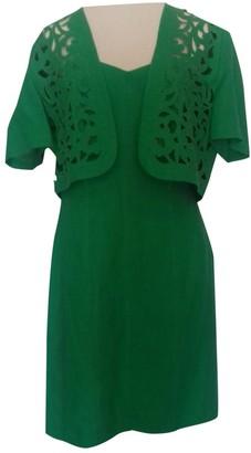 Max Mara Green Linen Dresses