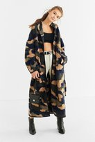 Urban Outfitters Camo Wool Cocoon Coat