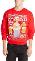 The Simpsons Men's Simpsons Ugly Christmas Crew Neck Sweatshirt