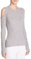 Elie Tahari Marla Cold Shoulder Ribbed Sweater