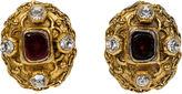 One Kings Lane Vintage Chanel Red Gripoix & Crystal Earrings