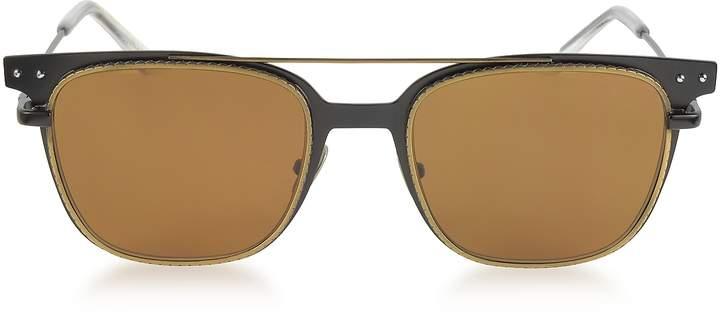 Bottega Veneta BV0095S 002 Black Metal Frame Men's Sunglasses