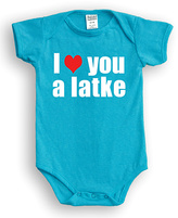 Urban Smalls Turquoise 'I Heart You A Latke' Bodysuit - Infant
