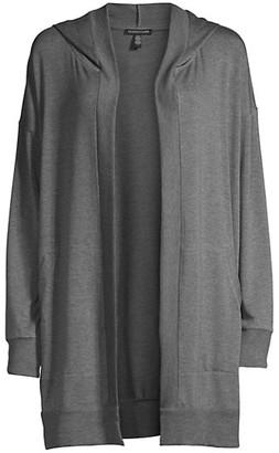 Eileen Fisher Hooded Long Jacket