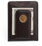 Tokens & Icons Indian Head Penny Money Clip Wallet - (80IH-BRN)