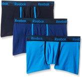 Reebok Men's 3 Pack Stretch Trunk, Navy/Electric Blue/Blue Depths