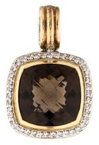 David Yurman Diamond & Smoky Quartz Albion Enhancer Pendant