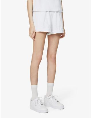 Prevu Delos high-rise cotton-blend shorts