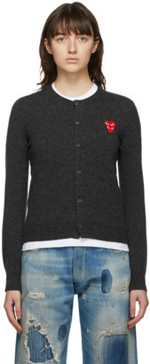 Comme des Garcons Grey Layered Heart Cardigan