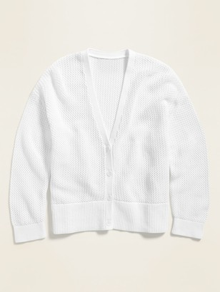 Old Navy Textured Open-Knit Button-Front Cardigan for Women