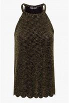 Select Fashion Fashion Womens Gold Lurex Chevron Halter - size 8