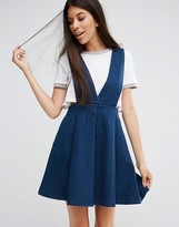 Goldie Take Me Away Denim Pinafore Dress