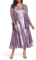 Komarov Plus Size Women's A-Line Dress With Jacket