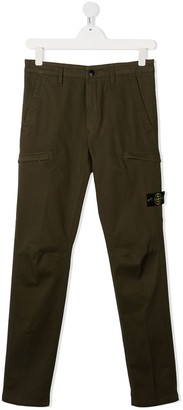 Stone Island Junior TEEN logo cargo trousers