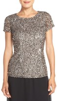 Adrianna Papell Women's Sequin Mesh Top