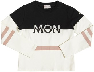 Moncler Logo L/S Cotton Jersey T-Shirt