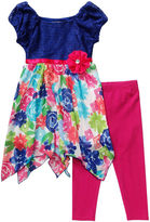 Youngland Young Land Sharkbite Dress and Leggings Set - Preschool Girls 4-6x