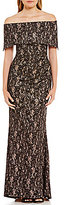 Vince Camuto Off-The-Shoulder Lace Gown