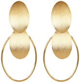 Rivka Friedman 18K Gold Clad Concave Disc Cascading Dangle Earrings