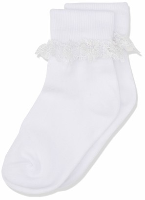 Country Kids Girl's 355 Butterfly Lace Sock 12-3.5