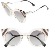 Fendi Women's 47Mm Cat Eye Sunglasses - Azure