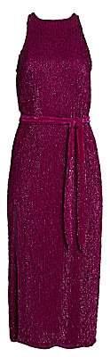 RetrofÃate Women's Tilly Sequin Tie-Sash Midi Dress