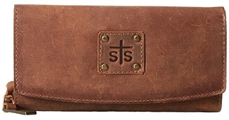 STS Ranchwear The Baroness Tri-Fold Wallet (Brown) Wallet Handbags