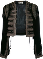 Saint Laurent hand stitched embroidered jacket - women - Cotton/Cupro/Viscose - 42
