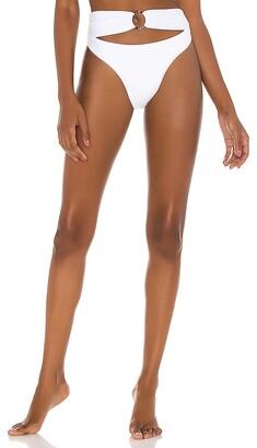 PQ Ring High Waist Cheeky Bikini Bottom