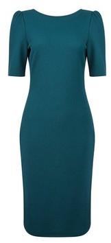 Dorothy Perkins Womens Teal Texture Bodycon Dress